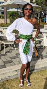 Trinidad Carnival Lime at the Hyatt outfit